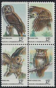 "1760 - 1763a Huge Color Shift Error / EFO ""Owls"" Block of 4 Mint NH"