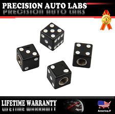 4 Packs Black Dice Valve Tire/Wheel Stem CAPS for Bike Hot Rod Car Truck ATV SUV