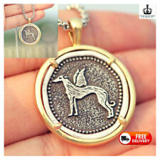 Italian Galgo Men's Greyhound Necklace Wings Copper Metal Whippet Dog Jewelry