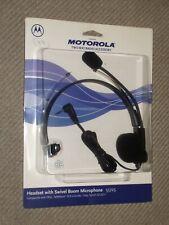 Motorola 53725 Black Headset 2.5mm Jack With Swivel Boom Microphone - New Sealed