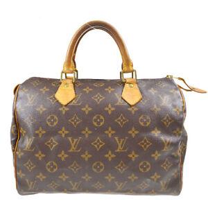 LOUIS VUITTON SPEEDY 30 HAND BAG PURSE MONOGRAM CANVAS M41526 TH0023 50241