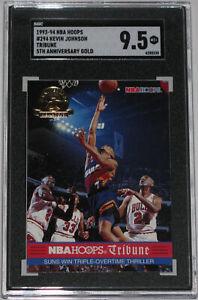 1993 Hoops 5th Anniversary Gold Tribune #294 Michael Jordan Pippen SGC 9.5 MINT+