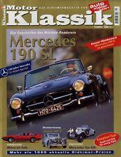 0031MK Motor Klassik 2001 1/01 Maserati Indy Jaguar Mk V Mercedes 190 SL 630