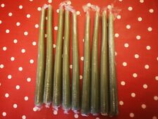 New Wrapped Candles Packs - Tapered 9 inch / 25cm Green