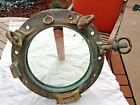 """15"""" ~Vntage Mark 17~Authentic WW II Naval Porthole~Heavy Duty Brass~Glass Window"""