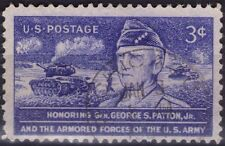 UNITED STATES OF AMERICA - GENERAL PATTON - RARO FRANCOBOLLO DA 3 CENTS - 1953