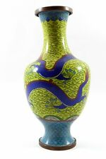 Rare Collectible Antique Chinese Cloisonné Vase With Dragon  i14-1