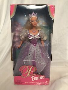 1997 Princess Blonde Barbie First Royal Princess Easy to Dress 18404 Damaged Box
