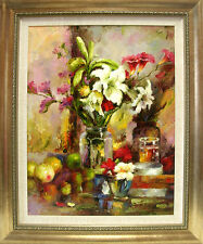 STILL LIFE IMPRESSIONISM  Original painting -103x127 cm with frame