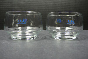Lot of 2 Vintage Olympic 1980 Winter Games Lake Placid Glasses Low Ball