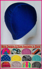 Adults or Kids LYCRA SWIMMING CAP  Royal Blue Swim Hat ADULT CHILD (Choose Size)