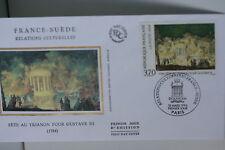 ENVELOPPE PREMIER JOUR SOIE- 1994 FRANCE-SUEDE