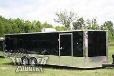 New 2018 8.5X24 8.5 X 24 V-Nosed Enclosed Race Cargo Car Toy Hauler Trailer