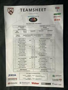 2021/22 Morecambe v Everton Papa John's Trophy teamsheet