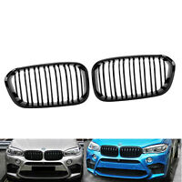 Gloss Black Front Kidney Grille Dual Line for BMW 1 series F20 F21 15-17