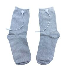 Silver Conductive Electrode Massage Socks Tens EMS Unit Pulse Shock Therapy