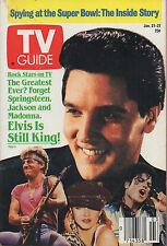 1985 TV Guide Elvis Is Still King NO LABEL Jan. 21-27