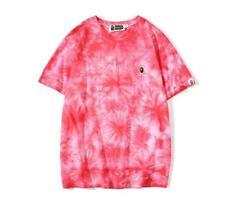 Fashion Men's Mini Monkey Pattern Cotton Tops TEE Summer Pink T-Shirt Large