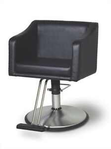 Belvedere Look Modern Salon Styling Chair With Chrome Base