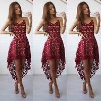 Women Summer Sleeveless Lace Ladies Evening Party Cocktail Short Mini Dress New