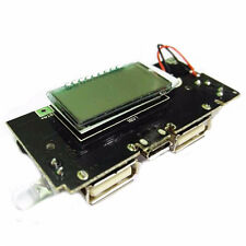 Dual USB 5V 1A 2.1A Mobile Power Bank 18650 Battery Charger PCB LCD Display UK