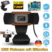 Webcam Kamera 720P HD USB 2.0 Mit Mikrofon für PC Computer Laptop Windows DE
