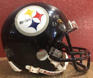 NFL Throwback Pittsburgh Steelers Riddell Mini  Football Helmet & Facemask