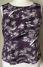 Effortless Style by Citiknits Print Tank Top Purple Black Abstract Plus Size 2X
