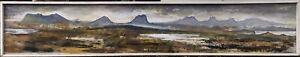 'A very LOOOOOONG Highland Scene' by Bruce W. Wallis  (Oil on board)
