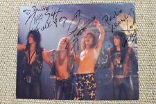 Motley Crue Signed Autographed Photo Nikki Sixx Mick Mars Tommy Lee Vince Neil