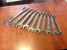 SNAP-ON TOOLS OEX710 10 Piece METRIC COMBINATION WRENCH SET 19mm - 10mm