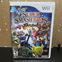 SUPER SMASH BROS BRAWL NINTENDO Wii COMPLETE WITH MANUAL CIB TESTED & WORKING