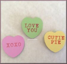 Conversation Hearts Metal Magnets Set of 3 By ROEDA® USA Made Free U.S. Shipping