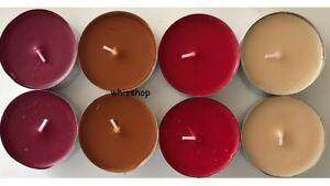 fragranced tealights 59mm diameter 9 hour burn time aroma individual
