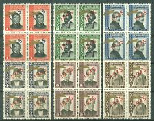 YUGOSLAVIA 1943 GOVERNMENT IN EXILE - 4 SETS 'Golden airplane' overprint MNH