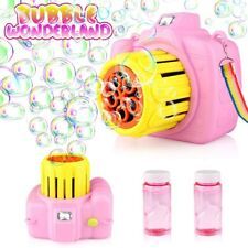 Betheaces Automatic Bubble Machine Toys for Kids with Bubble Solution