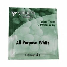 Youngs White Wine Yeast Home Brew Wine Making 5g sachet - Treats up to 23 litres