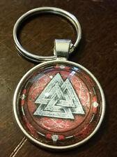 Viking Valknut Death runes runic Keychain Key Chain ring Norse Valhalla