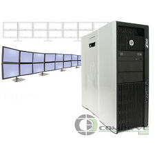 HP Z820 Multi Display 16 Monitor Computer 2x E5-2640 2.5 GHz 2x250GB HDD NVS510