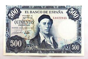 Spain-Billete. 500 Pesetas. 1954. Madrid. Serie K. EBC+/XF+