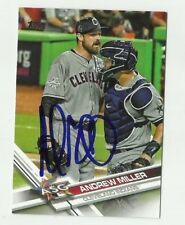 Cleveland Indians ANDREW MILLER  Signed 2017 Topps Update Card #US291