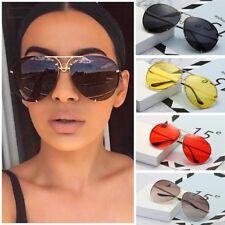 Black & Gold Oversized Aviator Sunglasses Flat Top Big Large Luxury Mirrored
