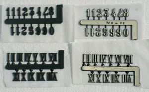 Plastic Clock numbers 10mm High
