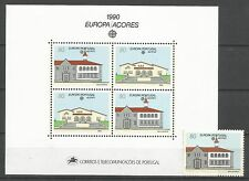 Cept / Europa   1990  Azoren  Block + Marke  **