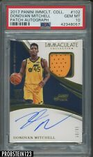 2017-18 Immaculate Donovan Mitchell RPA RC Rookie GU Patch AUTO /99 PSA 10