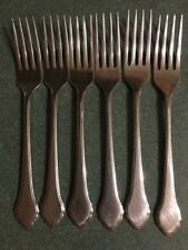 6 Oneida Summer Mist Autumn Glow Dinner Forks Flatware
