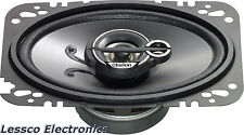 Clarion SRG4633C 4 X 6 Inches Custom Fit Multiaxial 3 Way Speaker System Set