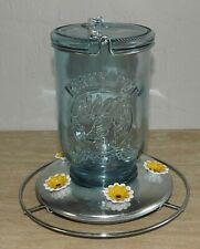 New listing Perky-Pet #785 Mason Jar Hummingbird Feeder Gently Used Shiny Silver Base