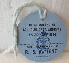 1970 OPEN CHAMPIONSHIP R & A TENT BADGE-JACK NICKLAUS WIN AT ST. ANDREWS