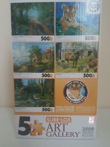 Art Gallery Puzzle: Road Less Traveled, Little Tiger, Seacove Cottage, Hillside